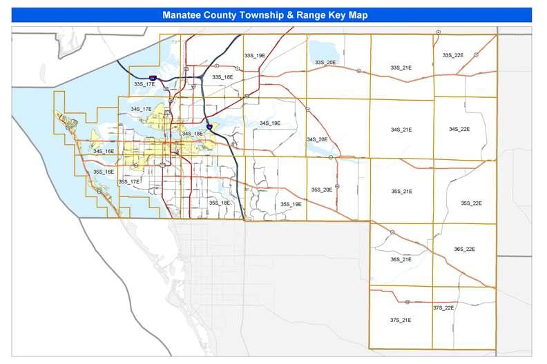 Manatee County Map Half Section Index   Manatee County